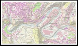 Figura 4. Meandros encajados del Nerbión- Ibaizábal antes de Bilbao.