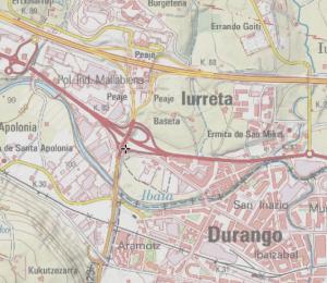 Plano de Durango y Iurreta