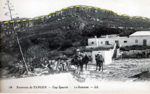 Foto 1. Imagen de principios del siglo XX en que se ve el relieve y el corte